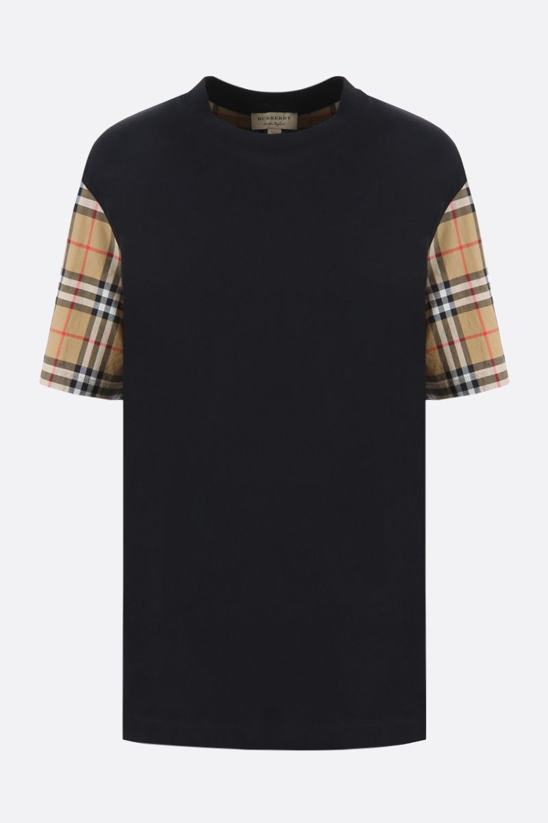 BURBERRY: Serra cotton oversized t-shirt Color Black_1