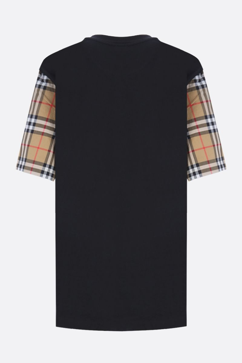 BURBERRY: Serra cotton oversized t-shirt Color Black_2