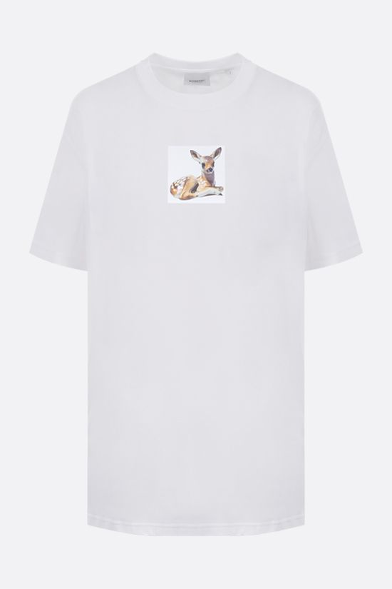 BURBERRY: Devon oversize cotton t-shirt Color White_1