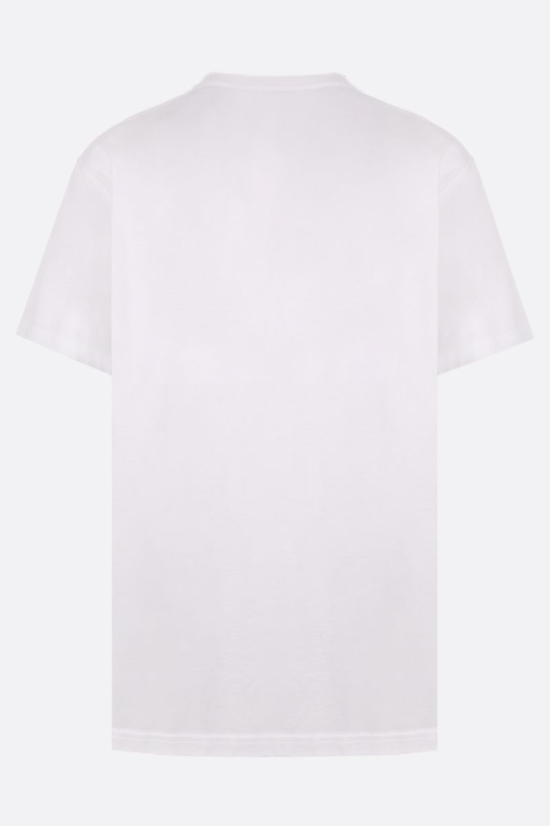 BURBERRY: Letchford cotton oversized t-shirt Color White_2