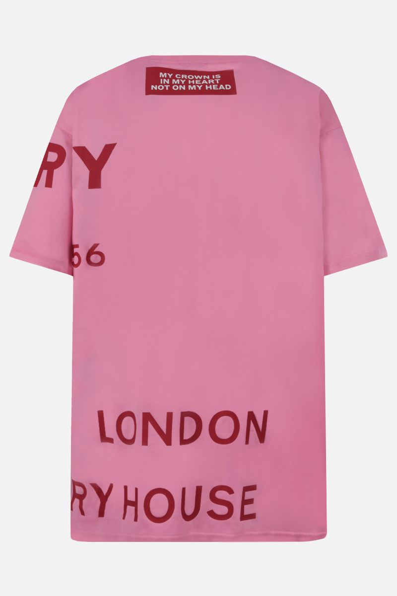 BURBERRY: Carrick cotton oversize t-shirt Color Pink_2