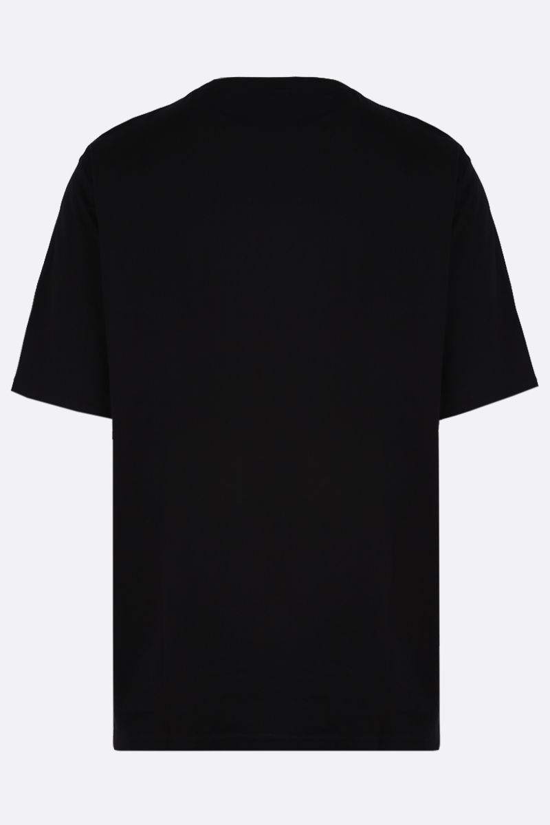 BURBERRY: Ganther cotton oversize t-shirt Color Black_2