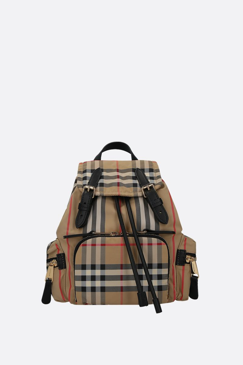 BURBERRY: The Rucksack small nylon backpack Color Brown_1