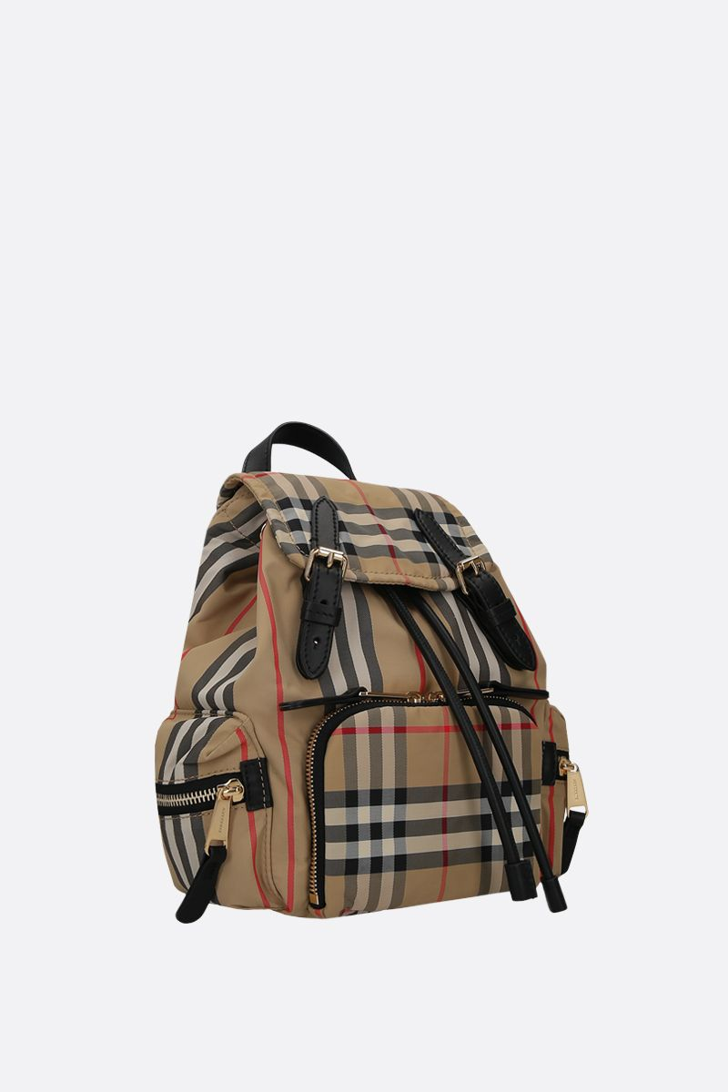 BURBERRY: The Rucksack small nylon backpack Color Brown_2