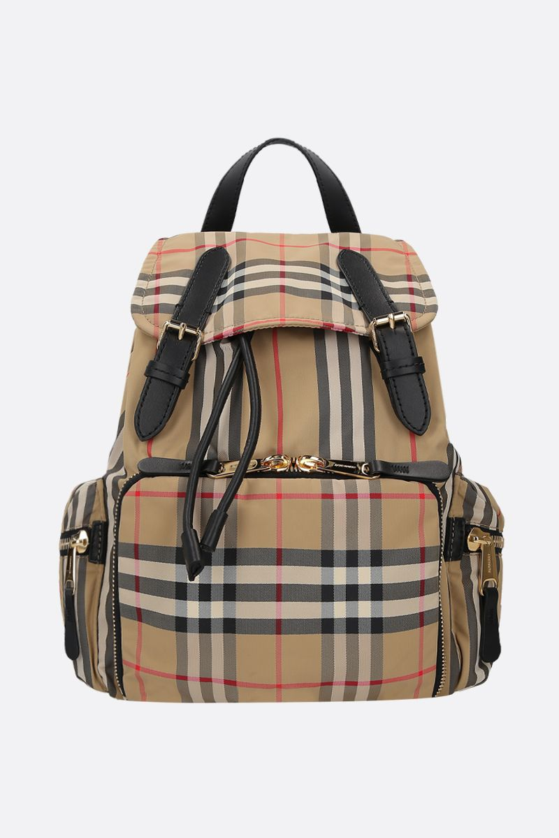 BURBERRY: The Rucksack medium backback in ECONYL® Color Brown_1