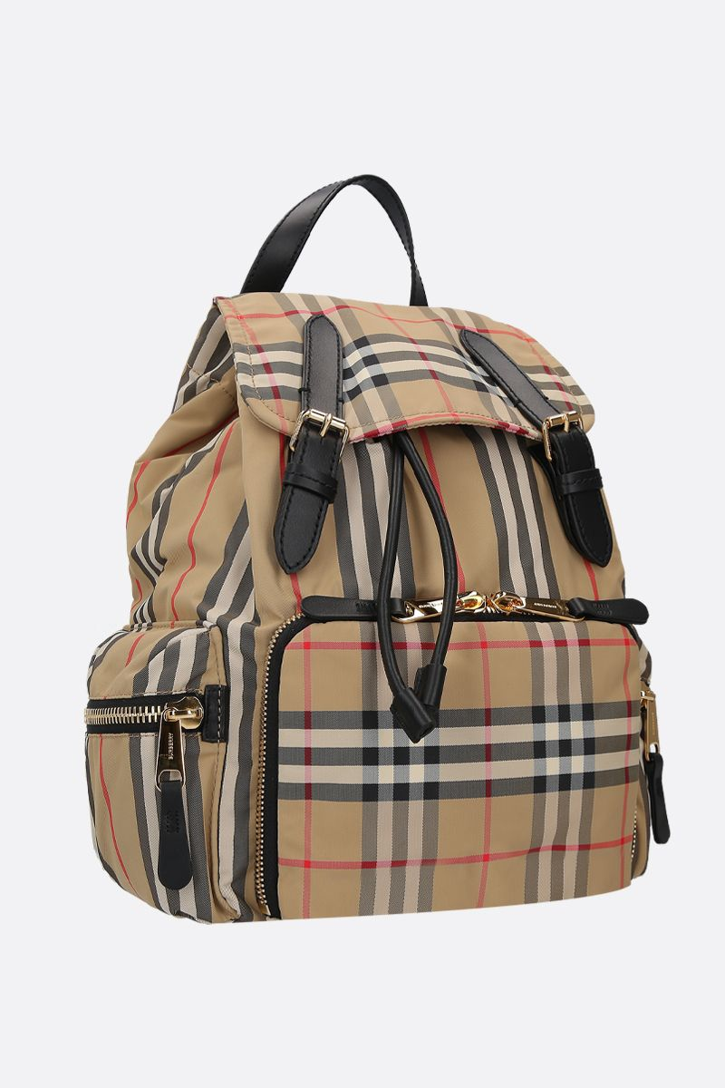 BURBERRY: The Rucksack medium backback in ECONYL® Color Brown_2