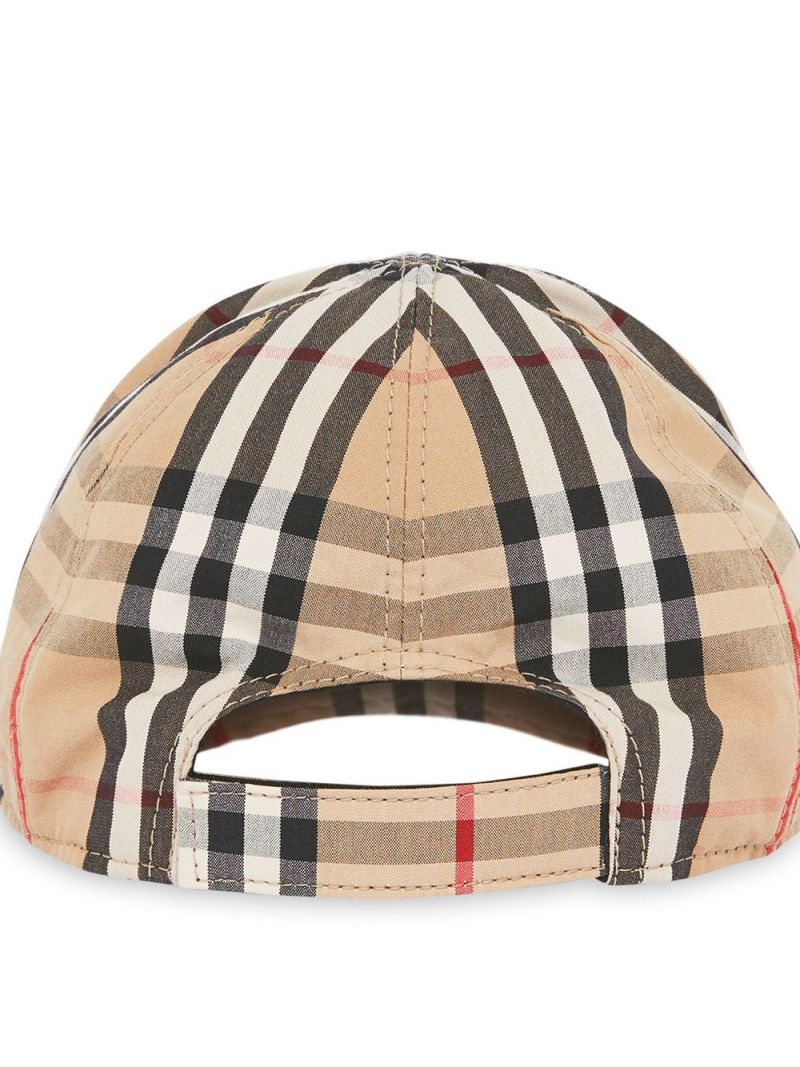 BURBERRY CHILDREN: cotton baseball cap Color Brown_2