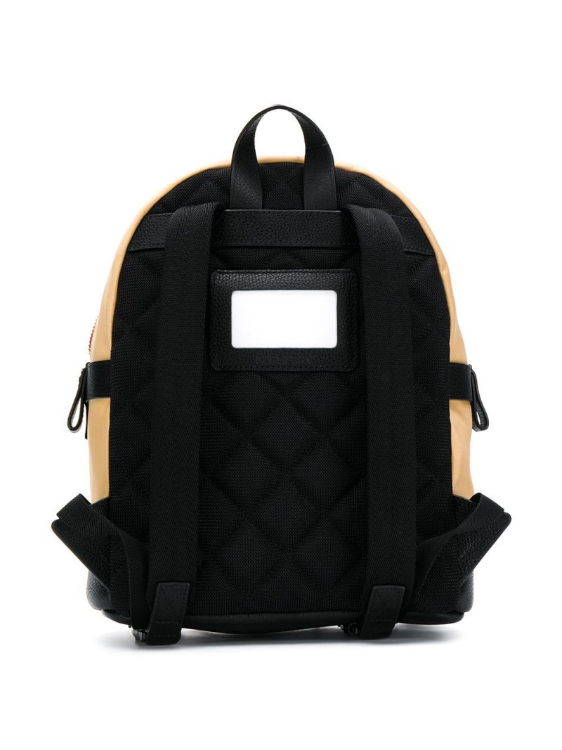 BURBERRY CHILDREN: Icon Stripe motif ECONYL® backpack Color Brown_2