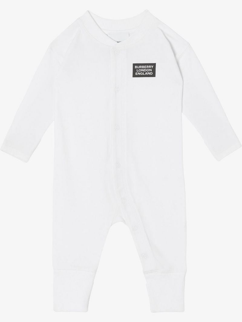 BURBERRY CHILDREN: organic cotton three-piece baby gift set Color Multicolor_2