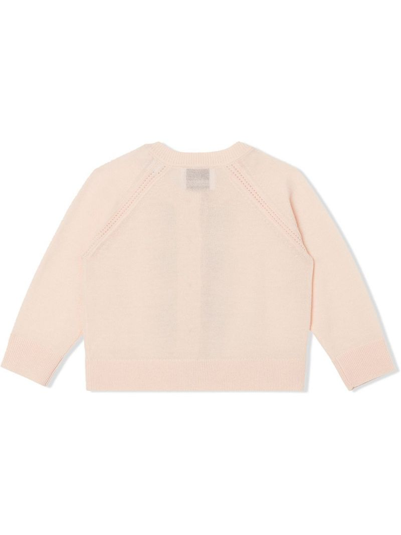 BURBERRY CHILDREN: Icon Stripe-detailed wool cardigan and top set Color Pink_2