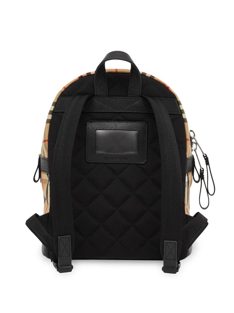 BURBERRY CHILDREN: Vintage check ECONYL® backpack Color Brown_2