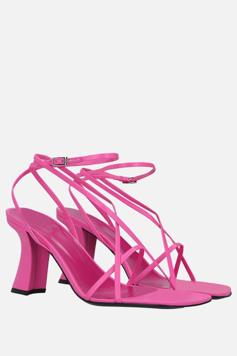 BY FAR: Kersti grainy leather sandals Color Pink_2