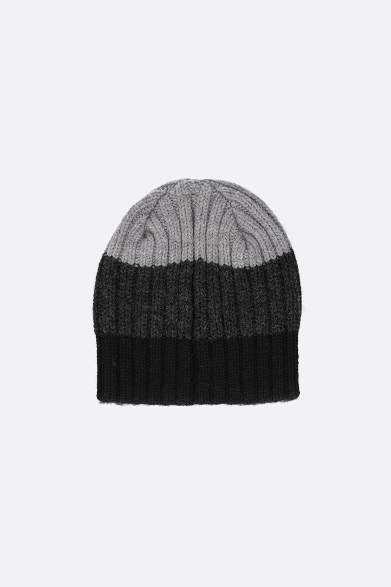 CANADA GOOSE: striped wool beanie Color Black_2