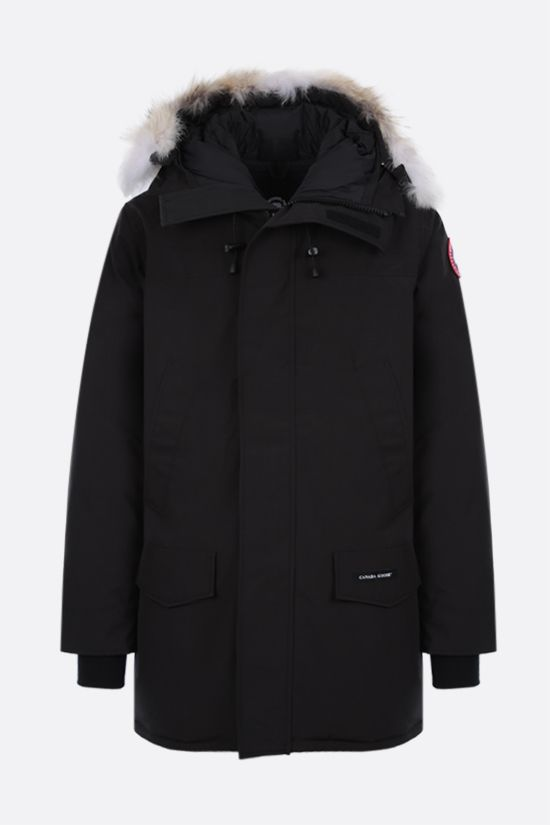 CANADA GOOSE: Langford technical canvas padded parka coat Color Black_1