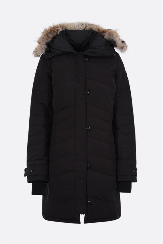 CANADA GOOSE: Loretta technical canvas padded parka coat Color Black_1