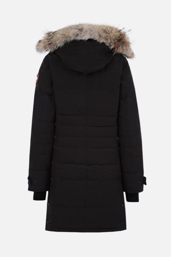 CANADA GOOSE: Loretta technical canvas padded parka coat Color Black_2