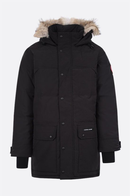 CANADA GOOSE: Emory technical canvas padded parka coat Color Black_1