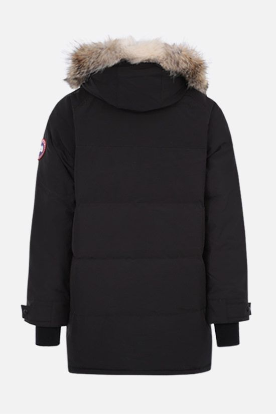 CANADA GOOSE: Emory technical canvas padded parka coat Color Black_2