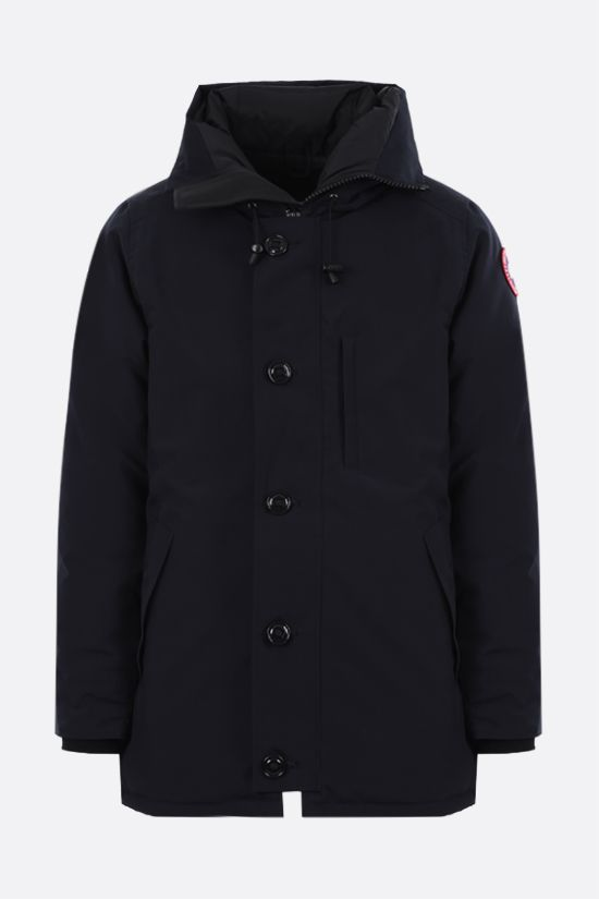 CANADA GOOSE: Chateau technical canvas padded parka coat Color Blue_1