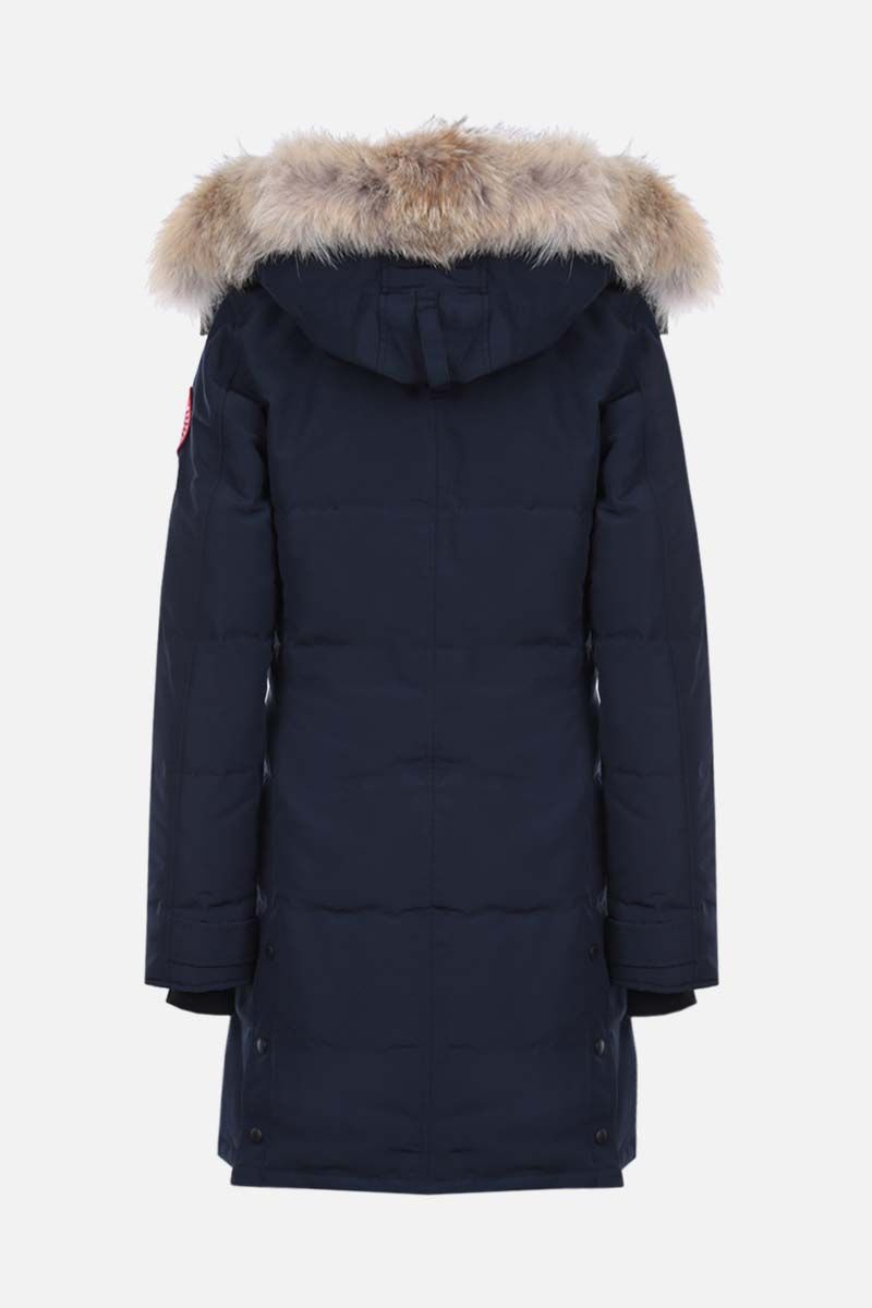 CANADA GOOSE: parka imbottio Shelburne in canvas tecnico Colore Blu_2
