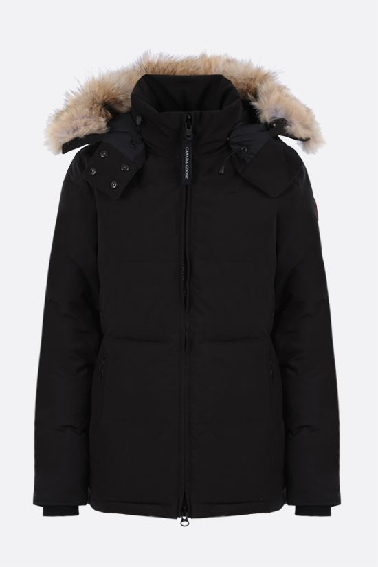 CANADA GOOSE: Chelsea technical canvas padded parka coat Color Black_1