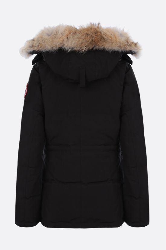 CANADA GOOSE: Chelsea technical canvas padded parka coat Color Black_2