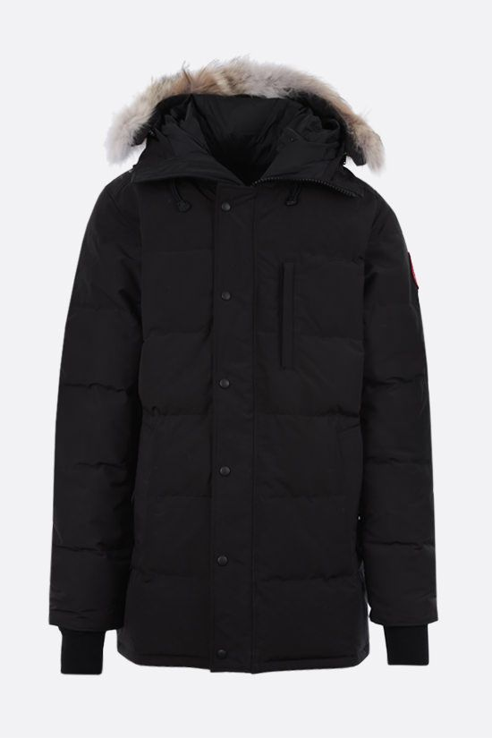 CANADA GOOSE: Carson technical canvas padded parka coat Color Black_1