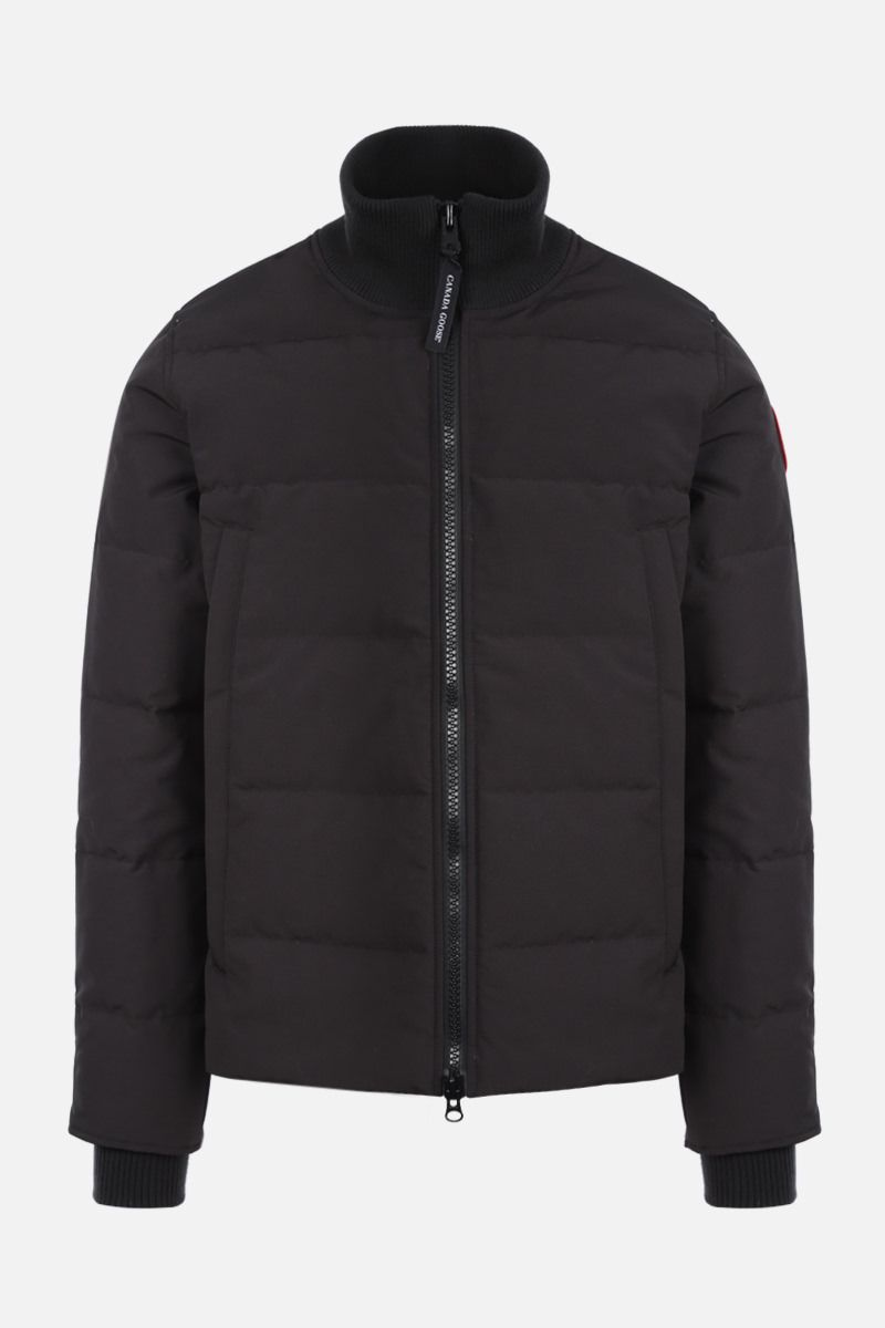 CANADA GOOSE: Woolford technical canvas down jacket Color Black_1