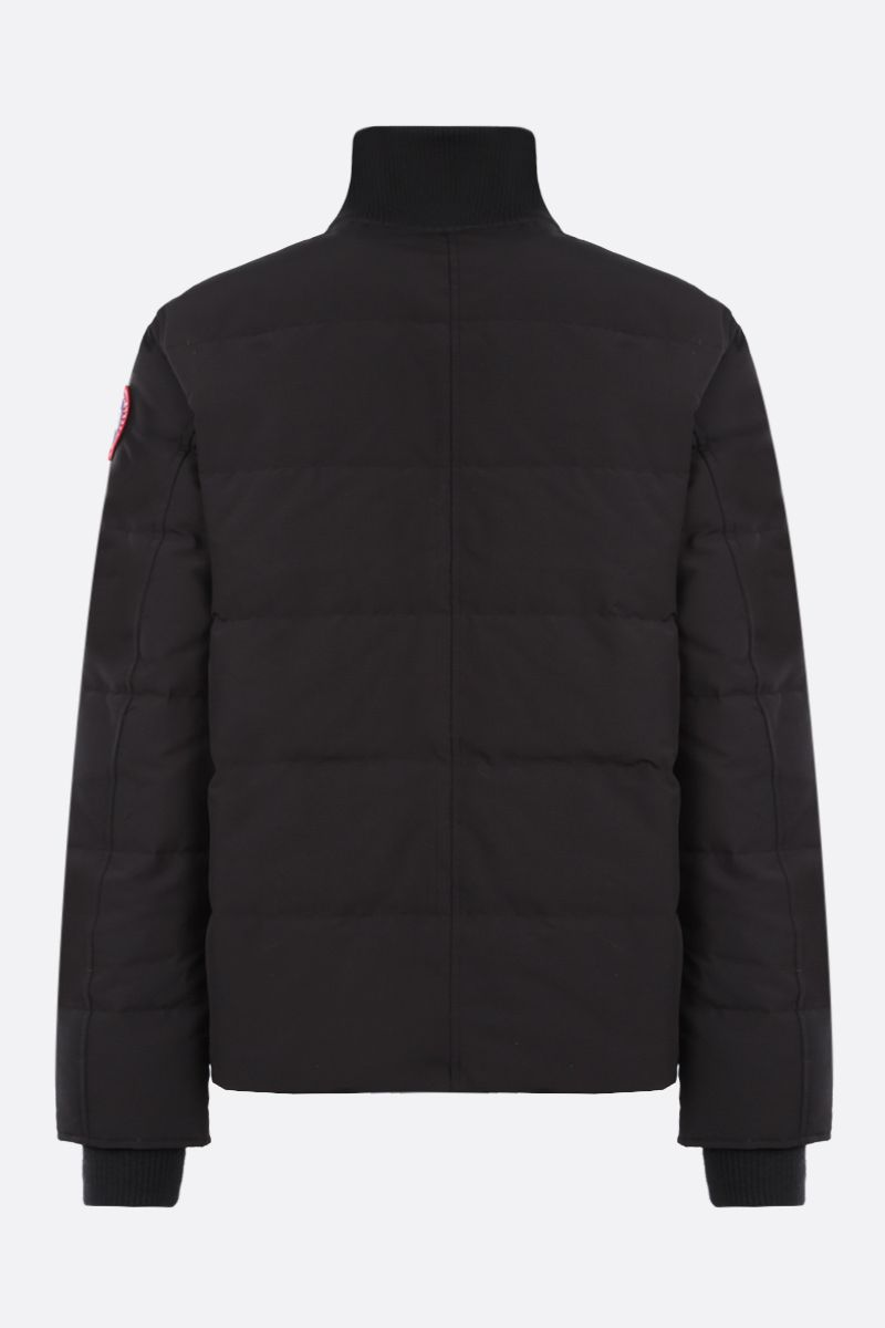 CANADA GOOSE: Woolford technical canvas down jacket Color Black_2