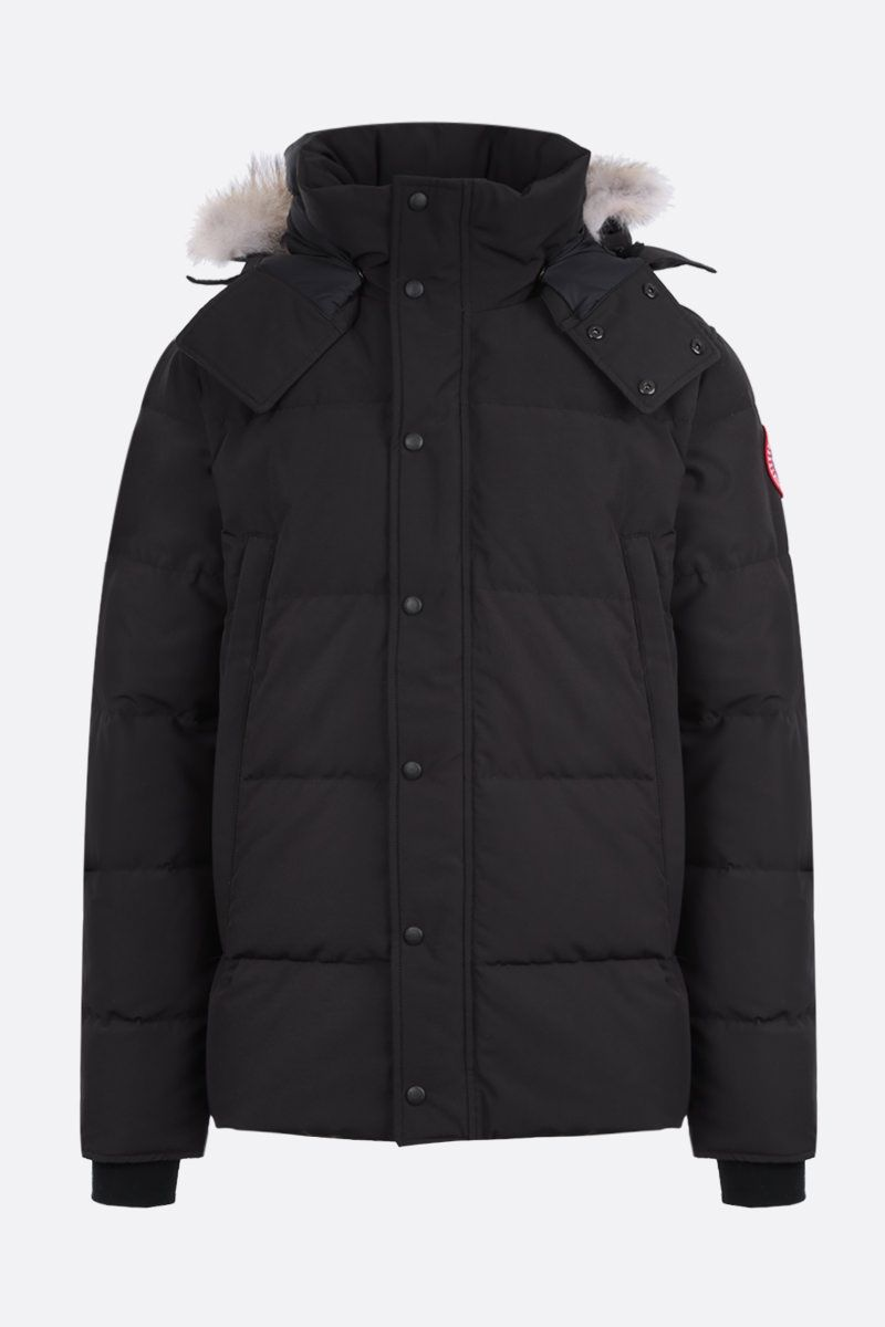 CANADA GOOSE: Windham technical canvas padded parka coat Color Black_1