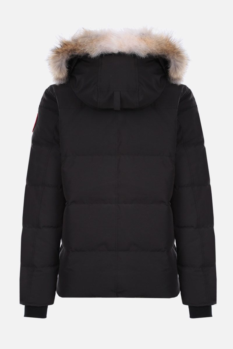 CANADA GOOSE: Windham technical canvas padded parka coat Color Black_2
