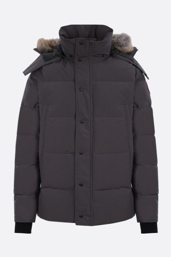 CANADA GOOSE: Windham technical canvas padded parka coat Color Grey_1