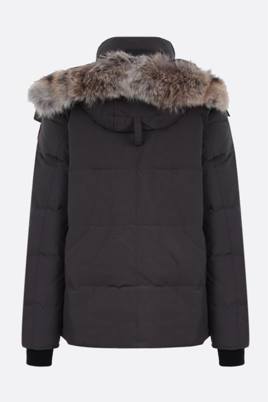 CANADA GOOSE: Windham technical canvas padded parka coat Color Grey_2