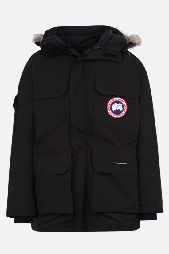 CANADA GOOSE: Expedition oversize technical canvas padded parka coat Color Black_1
