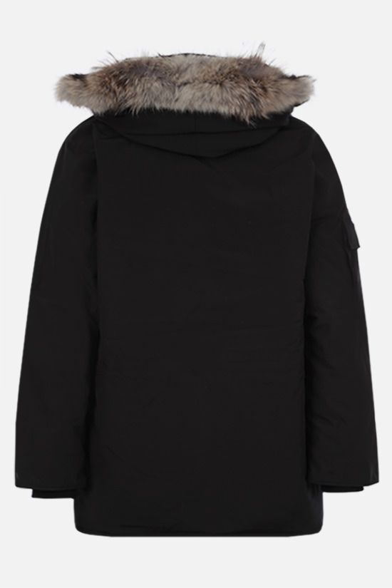 CANADA GOOSE: Expedition oversize technical canvas padded parka coat Color Black_2