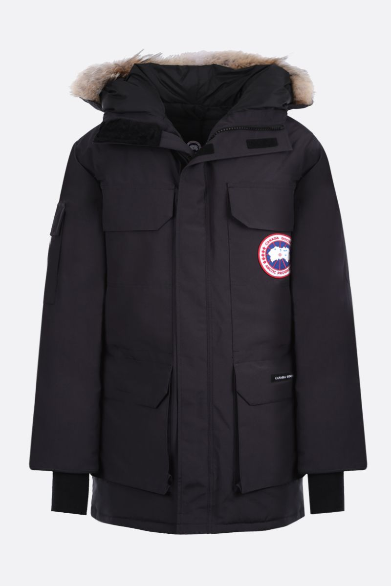 CANADA GOOSE: Expedition technical canvas padded parka coat Color Blue_1