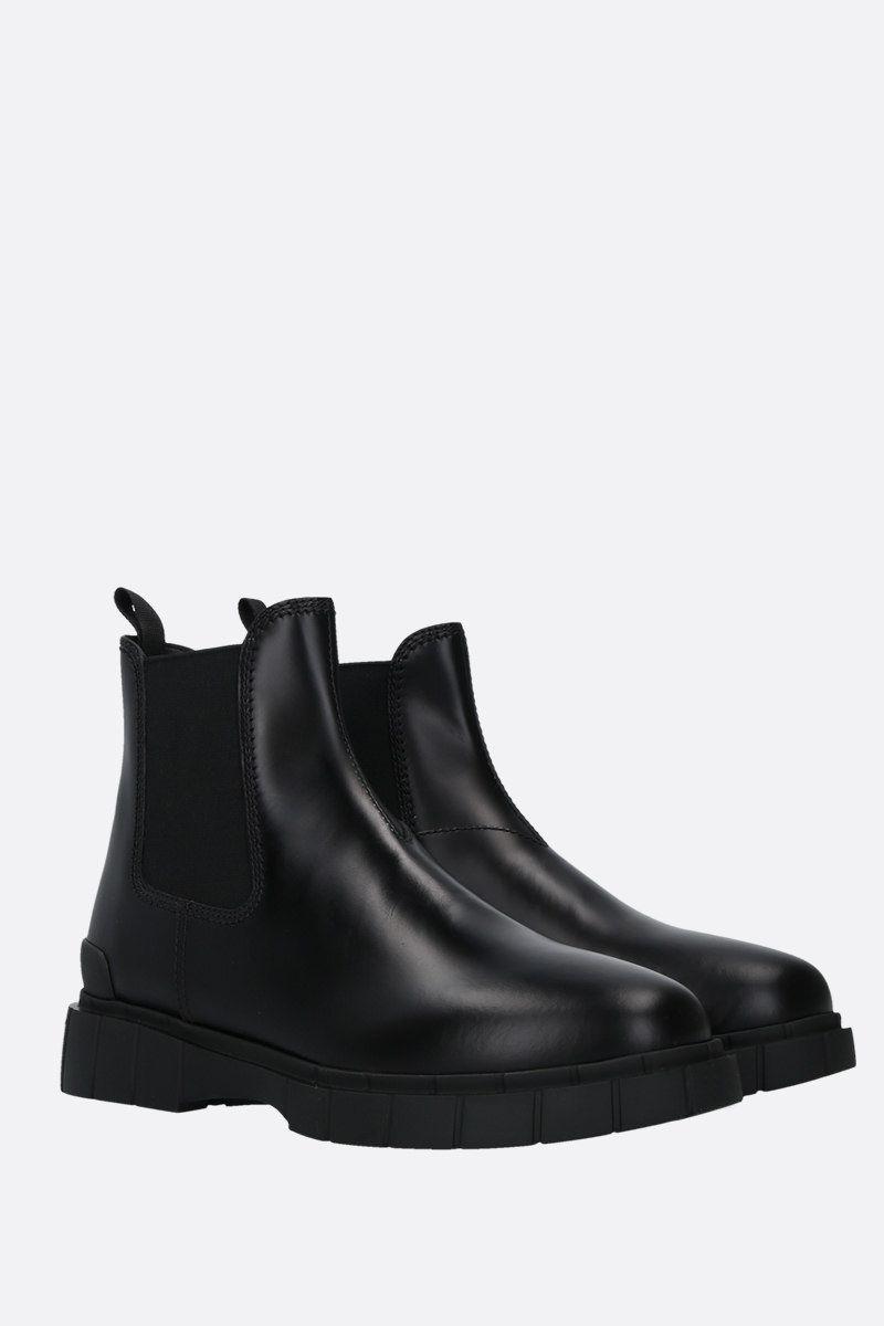 CAR SHOE: Rois spazzolato leather beatles Color Black_2