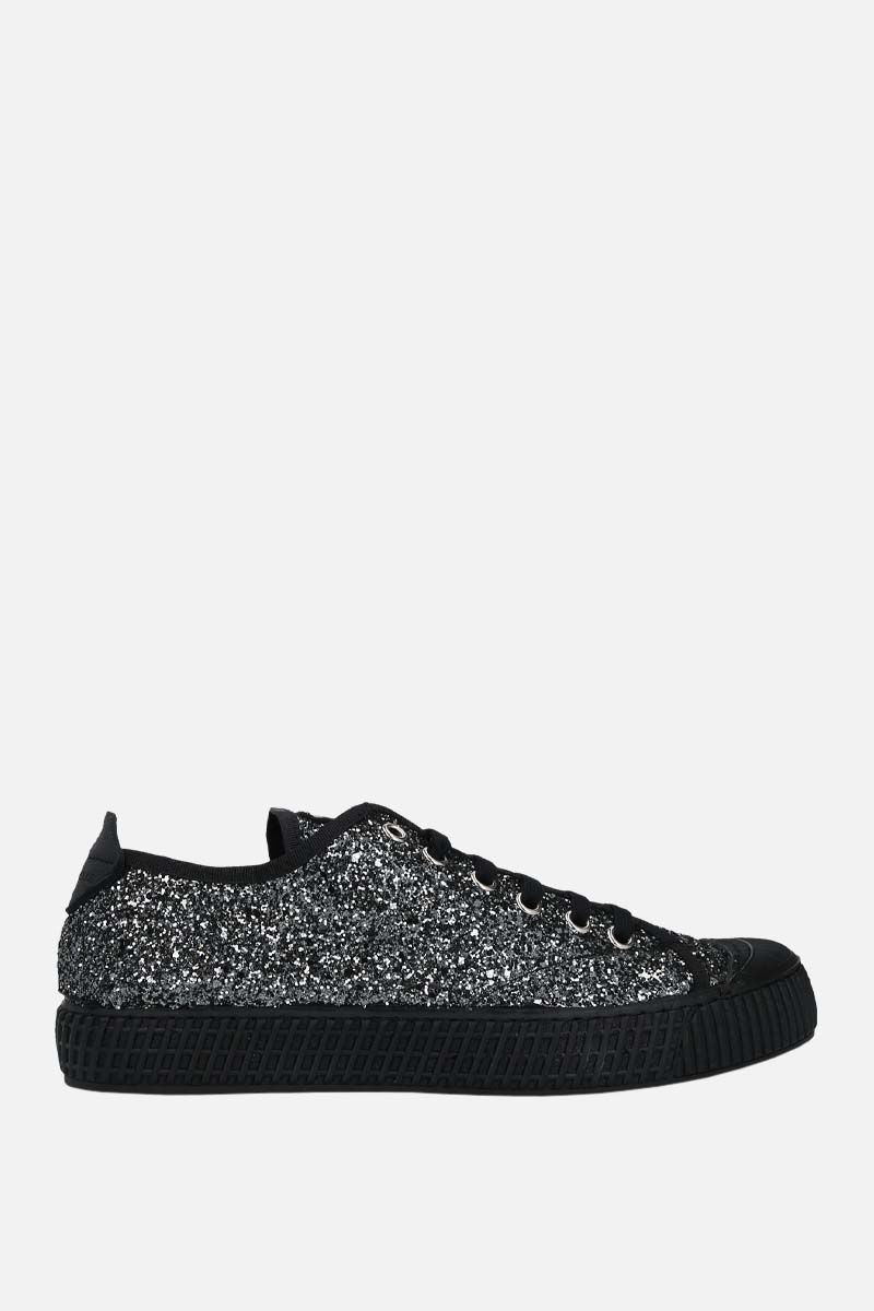 CAR SHOE: glitter fabric low-top sneakers Color Grey_1