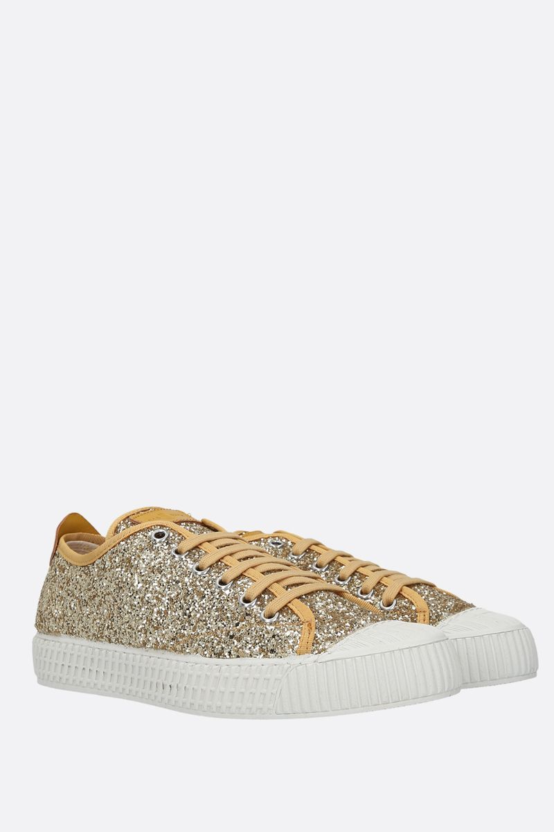 CAR SHOE: glitter fabric low-top sneakers Color Grey_2