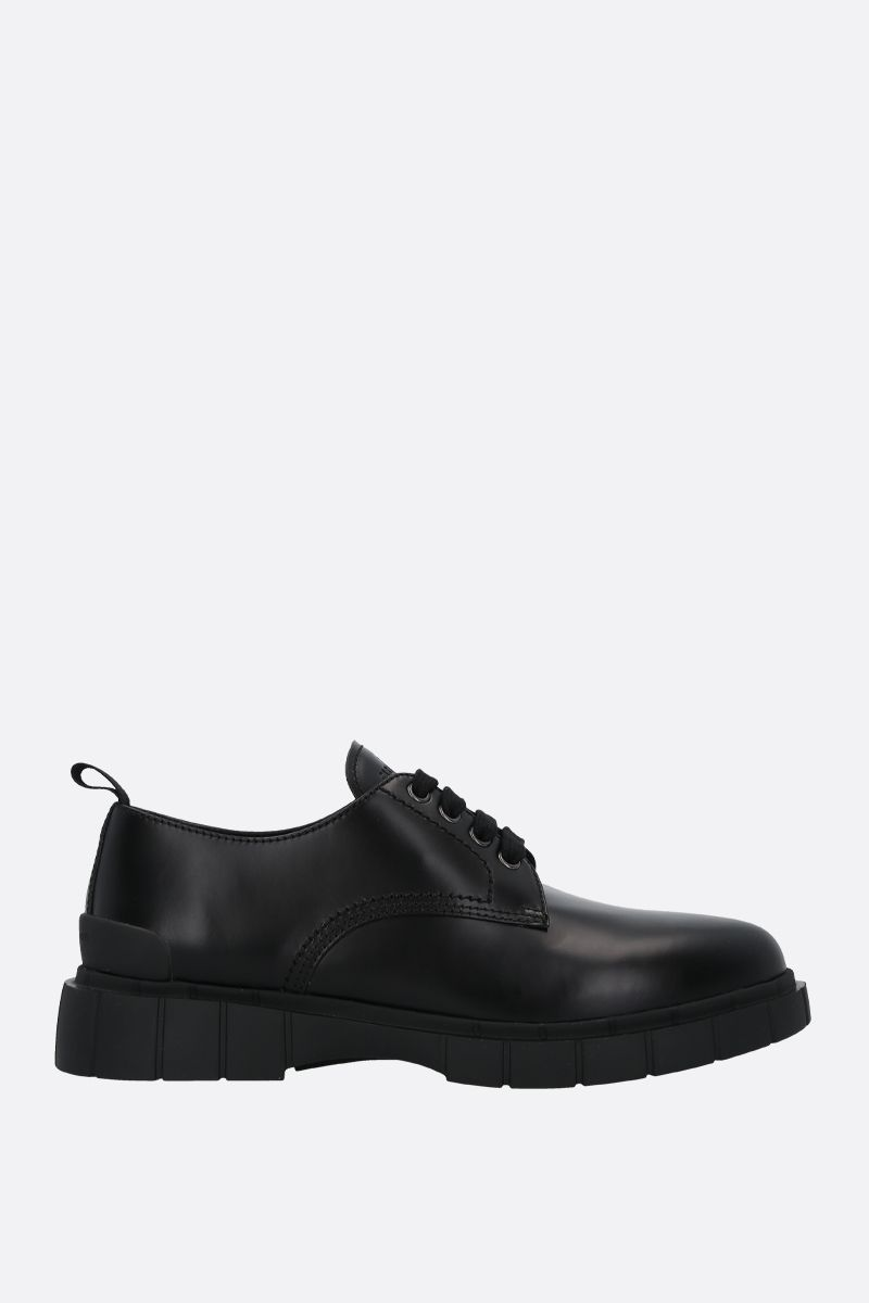CAR SHOE: Rois spazzolato leather derby shoes Color Black_1