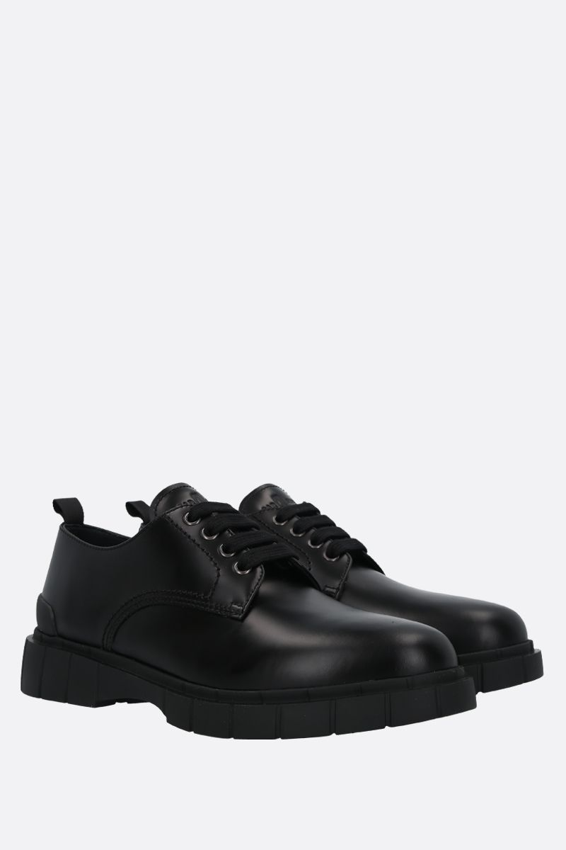 CAR SHOE: Rois spazzolato leather derby shoes Color Black_2