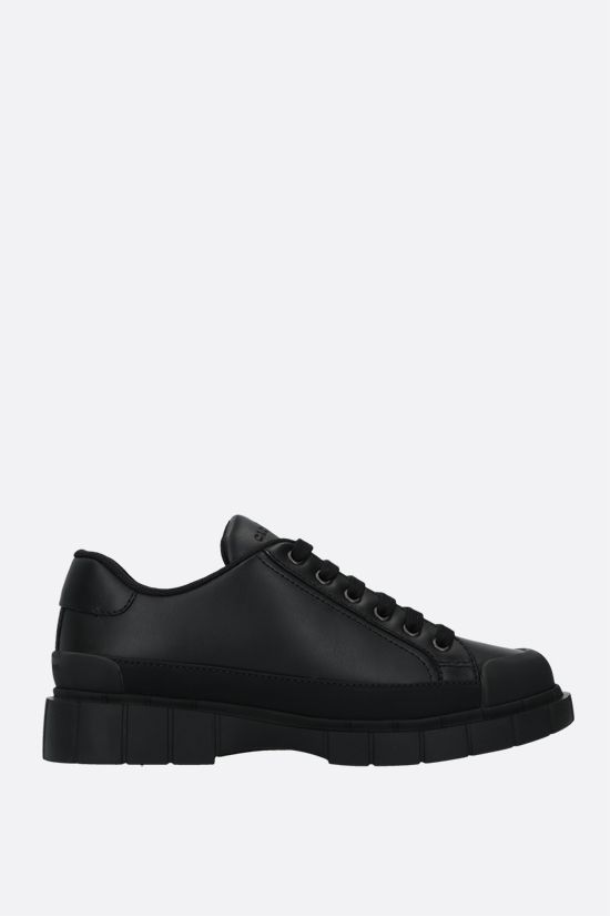 CAR SHOE: smooth leather low-top sneakers Color Black_1