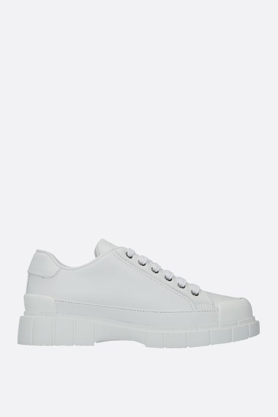 CAR SHOE: smooth leather low-top sneakers Color White_1