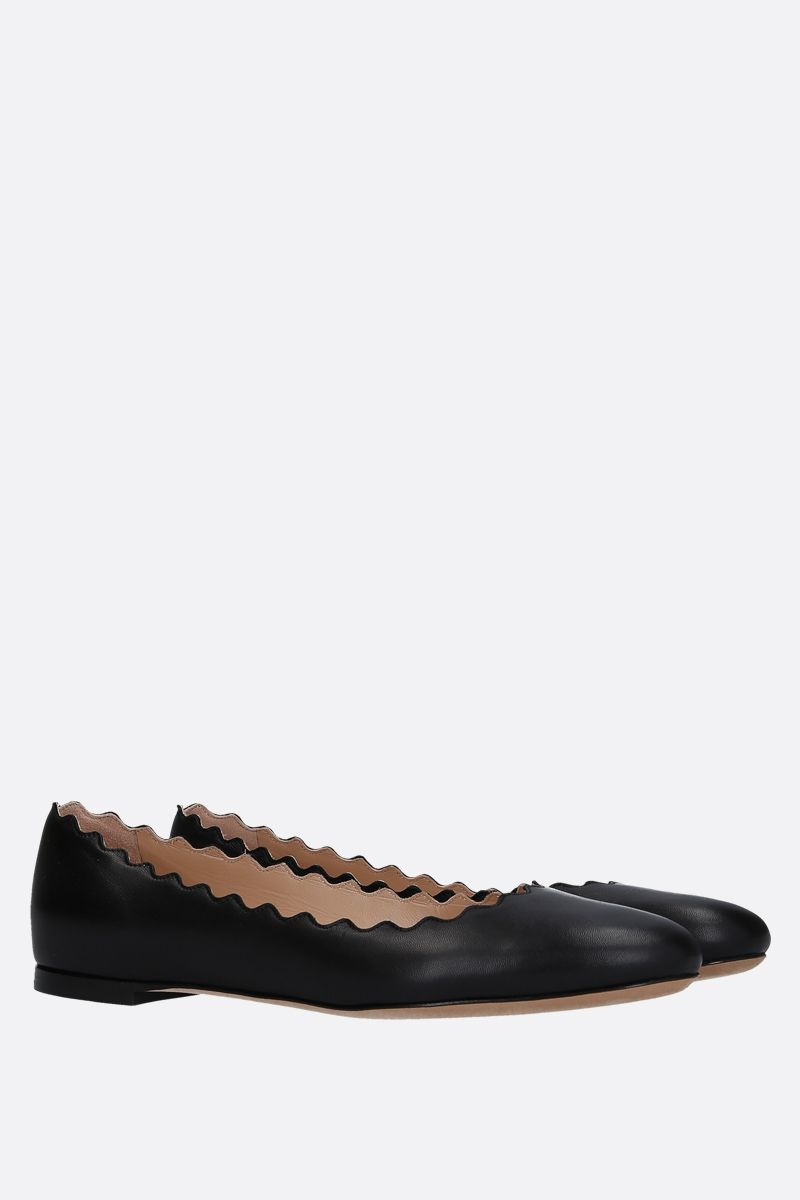 CHLOÈ: Lauren nappa ballerinas Color Black_2