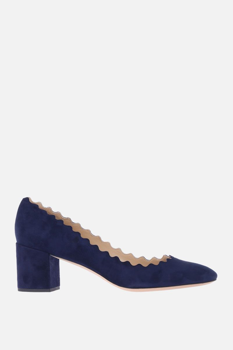 CHLOÈ: Lauren suede pumps Color Blue_1
