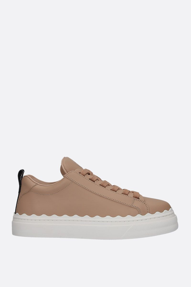 CHLOÈ: Lauren smooth leather sneakers Color Pink_1