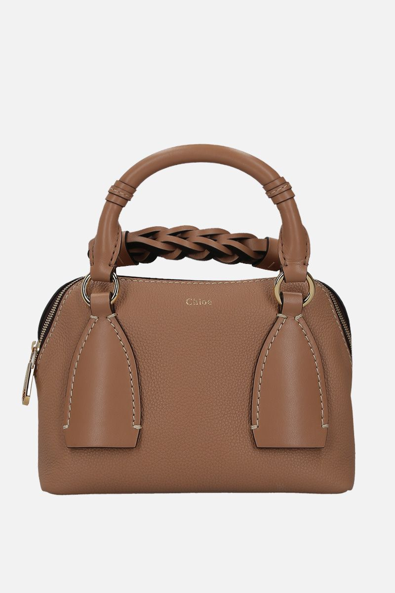 CHLOÈ: Daria small grainy and smooth leather handbag_1