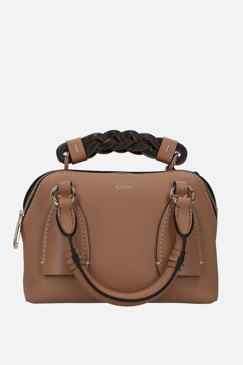 CHLOÈ: Daria small grainy and smooth leather handbag_2