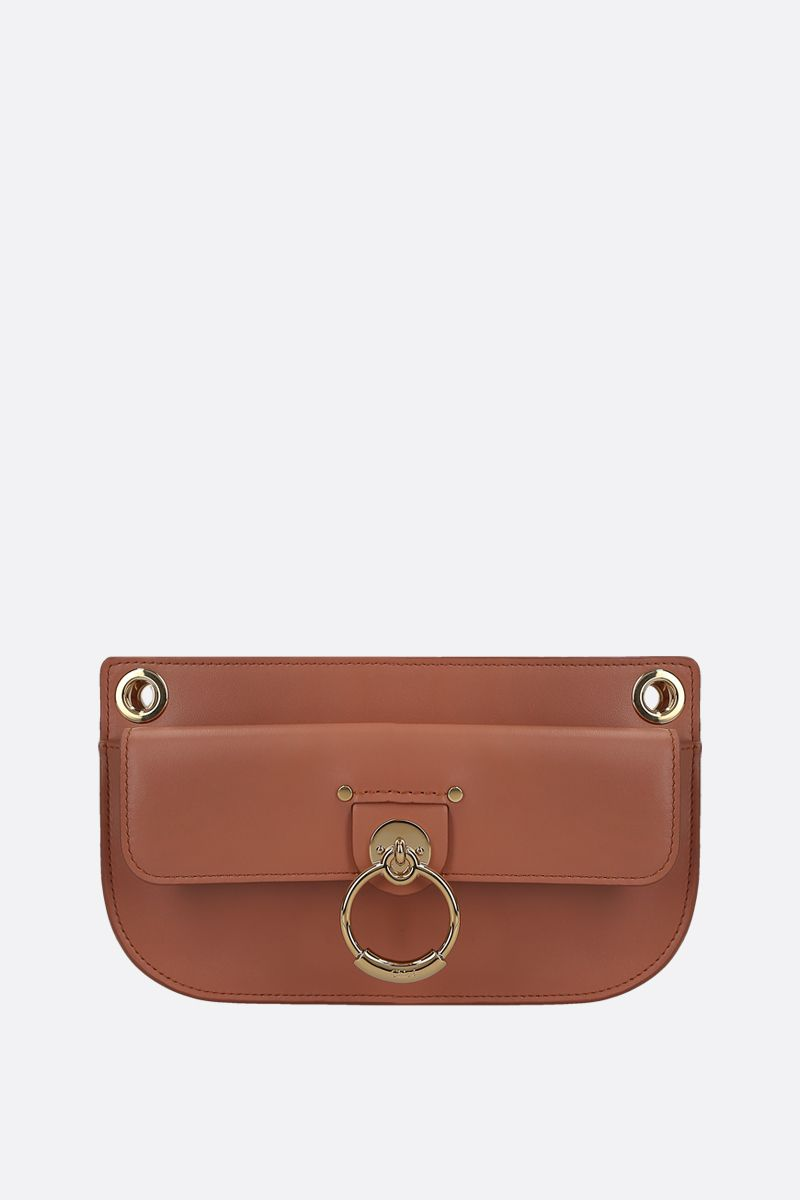 CHLOÈ: Tess mini shiny leather crossbody bag_1