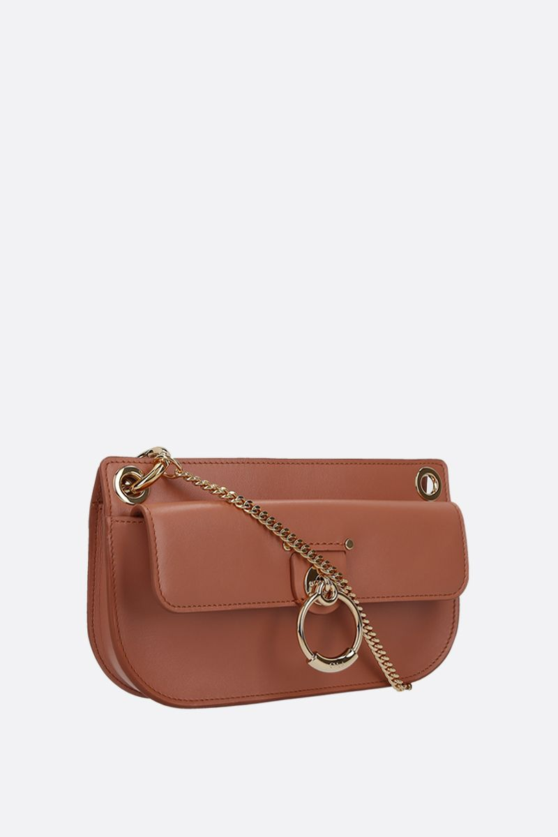 CHLOÈ: Tess mini shiny leather crossbody bag_2
